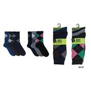 Mens 3pk Argyle Socks (SK167A)