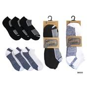 Rjm Mens 3pk Cotton Trainer Sock (SK033A)