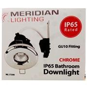 Meridian Gu10 Downlight Ip65 Rated Chrome (ML17599)