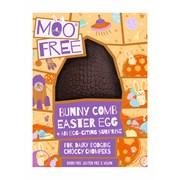 Moo Free Milk Choc Bunnycomb Egg W/chum Surprise 95g (MF820)