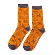 Mr Heron Bikes & Stripes Socks Mustard (MH149MUSTARD)