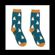 Mr Heron Fox Terrier Socks Teal (MH190TEAL)