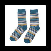 Mr Heron Stripes Socks Denim (MH195DENIM)