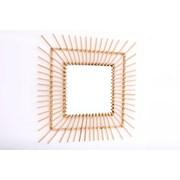 Square Rattan Mirror 60cm (MI0864)