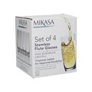 Mikasa Julie Stemless Flutes 4 Set (5233526)