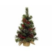 Mini Tree Berries-pinecones Grn/wht 70cm (681166)