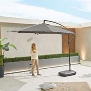 Barbados Cantilever Parasol Round Grey 3m (N12080)