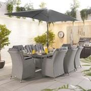 Thalia 8 Seat Dining Set Rectangle 1 x 2m (N15318)