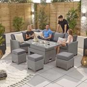 Ciara L/hand Corner Dining Set- Rising Table (N16109)