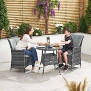 Sienna 2 Seat Bistro Set Round Table-grey 75cm (N16542)
