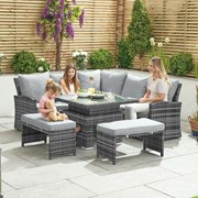 Cambridge Compact Corner Dining Set with Rising Table - Grey