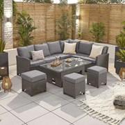 Nova Ciara Rh Corner Dining Set-rising Table Slate (N17151)