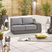 Nova Heritage Luxor Left Sofa Piece 2 Seat Slate Grey