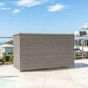 Heritage Rattan Storage Box with Cover - White Wash