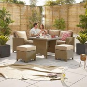 Heritage Ciara Compact Corner Dining Set with Casual Parasol Hole Table - Willow