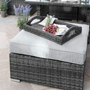 Footstool for Chelsea Corner Dining Set - Grey