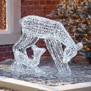 Spun Acrylic Roscoe Reindeer Family 70cm (N18741TWW)