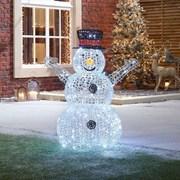 Spun Acrylic Flurry The Snowman 90cm (N18753TWW)