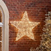 Spun Acrylic Warm White Star 100cm (N18760TWW)