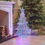 Soft Acrylic Xmas Tree Multi Coloured 100cm (N18761TWW)