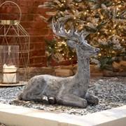 Sitting Reindeer Grey 57cm (N18828TWW)