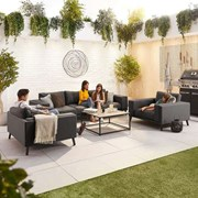 Infinity 3 Seat Fabric Sofa Set - Dark Grey