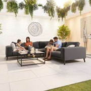 Infinity Corner Fabric Sofa Set - Dark Grey