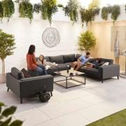 Infinity Corner Fabric Sofa Set with Lounge Chair - Dark Grey