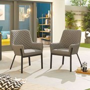 Genoa Dining Chair (Pack of 2) - Light Grey