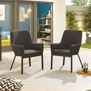 Genoa Dining Chair (Pack of 2) - Dark Grey
