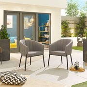 Edge Dining Chair (Pack of 2) - Light Grey