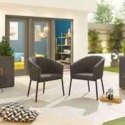 Edge Dining Chair (Pack of 2) - Dark Grey