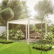 Titan Aluminium Pergola - 3.6m x 3.6m Square - White