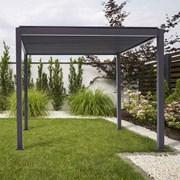Proteus Aluminium Pergola - 4m x 3m Square - Grey