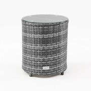Kensington Round Rattan Gas Bottle Side Table - Grey