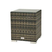 Chelsea Square Rattan Gas Bottle Side Table - Brown