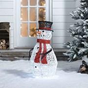 Rattan Snowman Figure (N3832TWW)