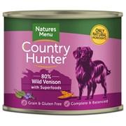 Natures Menu Country Hunter Dog Food Cans Wild Venison 600g (NMCVB)