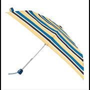 Totes Isotoner Auto Open/close Teal Nautical Stripe Umbrella (8065KNF)