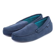 Totes Isotoner Totes Suedette Moccasin With Driving Sole Nvy/blue Large (99262NA
