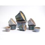 Y.f.pots Medium Glazed Pan-leaf (62051)
