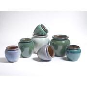 Y.f.pots Medium Glaxed Urn-mist (62010)