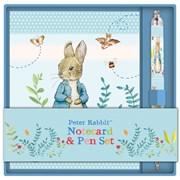 Notecard & Pen Set Peter Rabbit Pastel Stripes (RFS13427)