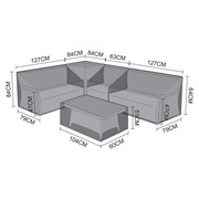 Nova Corner Dining Set Cover Oyster with Coffee Table