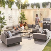 Nova Tranquility Outdoor Fabric Corner Sofa Set with 2 Lounge Chairs