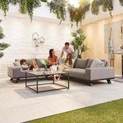 Nova Tranquility Outdoor Fabric Corner Sofa Set with Coffee Table
