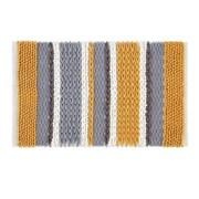 Catherine Lansfield Textured Stripe Bath Mat Ochre (BR/43090/W/BMAT/OC)