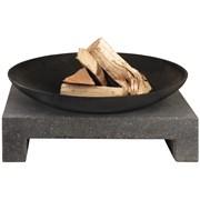 Black Cast Iron Fire Bowl/granite Bench (OH181015)