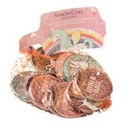 Foiled Unicorn Chocolate Coins 53g (ON555)