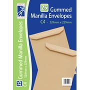 O/style Envelope Manilla C4 25s (STA028)